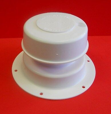 Camco White Plumbing Roof Vent Cap, Removable Top RV Camper Trailer sewer (Rv Sewer Cap)