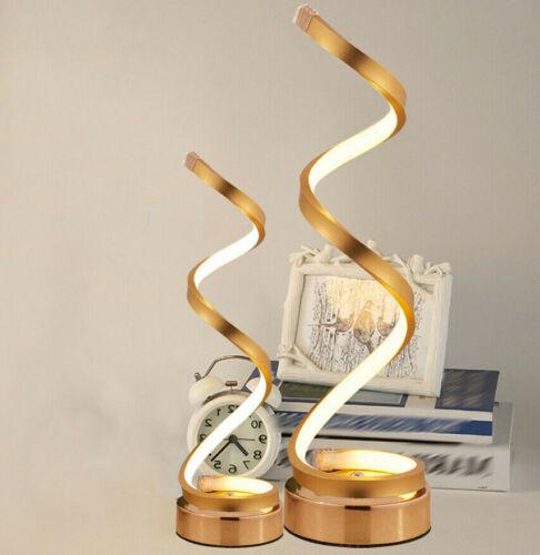 LED Desk Lamp Modern Spiral Table Lamp Curved Modern Minimal
