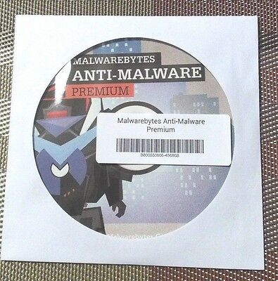 Malwarebytes Anti Malware Premium 3 0  1 Pc  1 Year    Brand New Cd