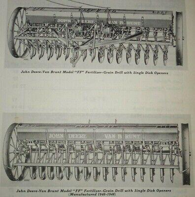 John Deere Ff Fertilizer-grain Drill Parts Catalog Manual Book Jd 1154 Original