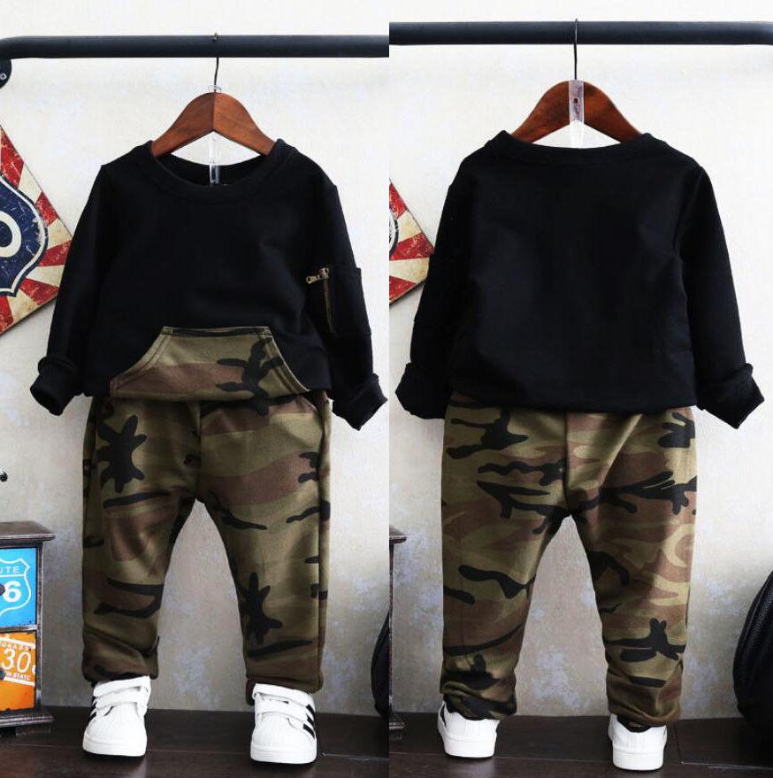 2pcs toddler kids baby boys girls clothes