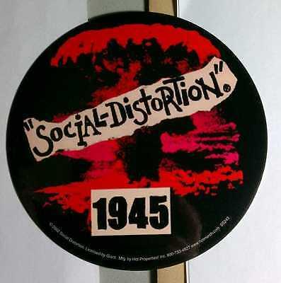 SOCIAL DISTORTION 1945 ROUND BIKE BOARD CASE STICKER