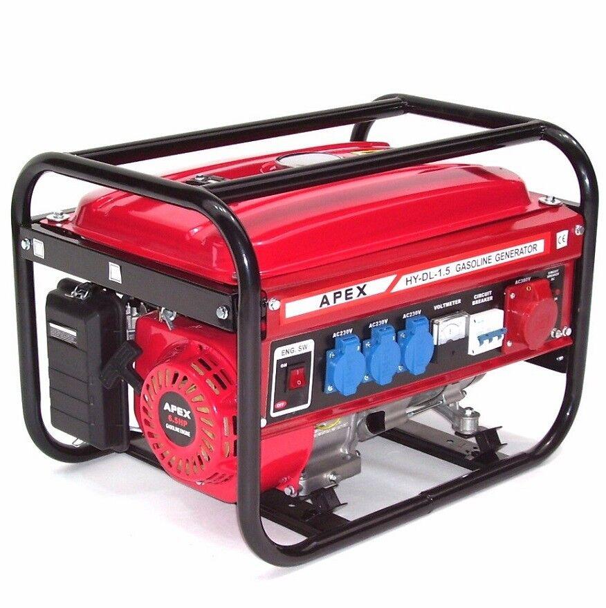 06265 Benzin Stromerzeuger SK9500 230V 400V Strom Generator Notstrom Aggregat