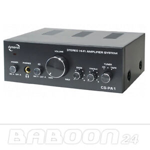 Mini HiFi Verstärker   Dynavox CS-PA1   Schwarz    Große Leistung, kleiner Preis