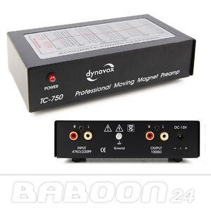 Phono Vorverstärker, Entzerrer | Dynavox TC-750 | Schwarz