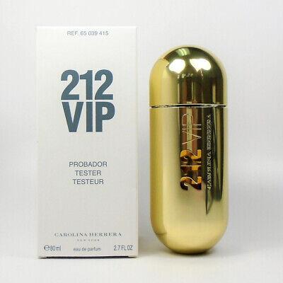 212 VIP by Carolina Herrera Eau De Parfum For Women 2.7 oz / 80 ml *NEW TST BOX*