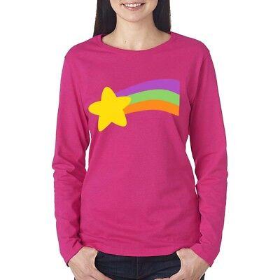 Gravity Falls T-shirt Mabel Pine Rainbow Halloween Costume Men Women Long Sleeve](Mabel Gravity Falls)