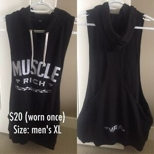 Men's Muscle Rich stringer hoodie