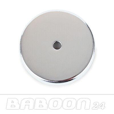 Rundmagnet, Runder Magnet, Magnet Scheibe, 67 x 9,5 mm, 29 kg, verchromt