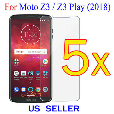 5x Clear Screen Protector Guard Cover Film For Motorola Moto Z3 Play / Z3 (2018) Clear Screen Guard