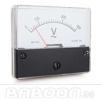 Einbau Messinstrument 0 - 300 V AC, Messgerät, Analog Voltmeter