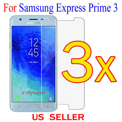 3x Clear Screen Protector Guard Cover Film For Samsung Galaxy Express Prime 3 3 Screen Protector Guard