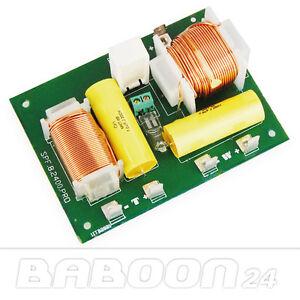Frequenzweiche, 2 Wege Lautsprecher, Frequenz Weiche Pro, 400 Watt, 12 dB