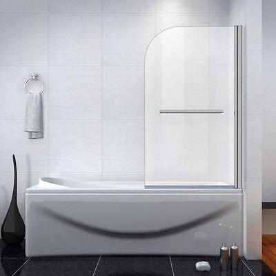 NEW DESIGN 800x1400mm 180° Pivot Bath Shower Screen Aica Door Panel & Seal SIM