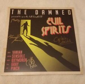 THE DAMNED 2018 EVIL SPIRITS SIGNED WHITE VINYL ALBUM LP punk rock limited 1000