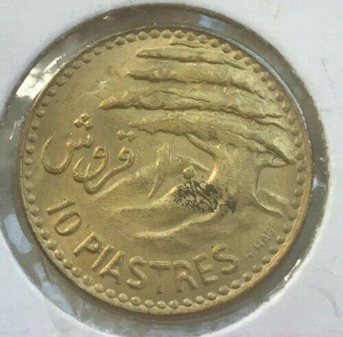 1955 Lebanon 10 Piastres - Bright Uncirculated