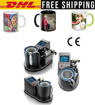 Heat Press Mug Printing Machine 2d Digital Pneumatic Thermal Mug Printer Us Plug