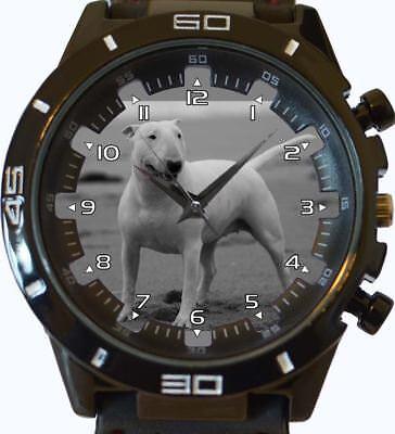 Bull terrier neuf gt séries sports unisexe cadeau poignet montre