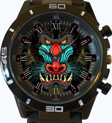 (Baboon Monkey Art Hot New Style Unique Gift Wrist Watch Fast Uk Seller)