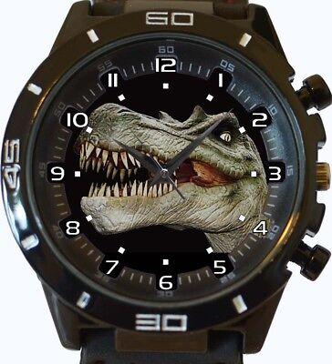 Dinosaurier T-Rex Gesicht Neu Stil Unikat Geschenk Armbanduhr Fast UK Verkäufer