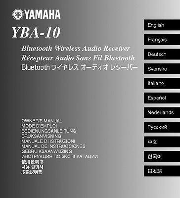 Yamaha YBA-10 Receiver Owners Manual