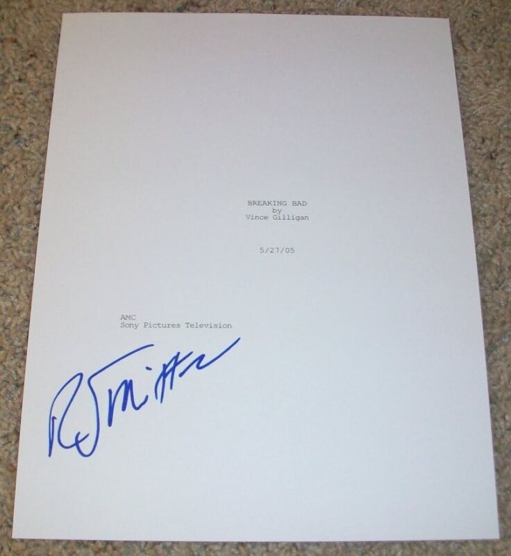 R.J. MITTE SIGNED AUTOGRAPH BREAKING BAD 58 PAGE PILOT SCRIPT w/EXACT PROOF
