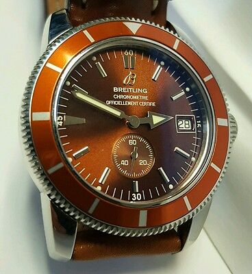 Mens Breitling Watch Superocean Heritage  A37320  Copper 38mm box / papers