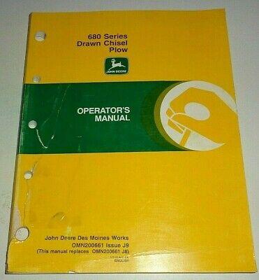 John Deere 680 Drawn Chisel Plow Operators Owners Manual Original J9 1999