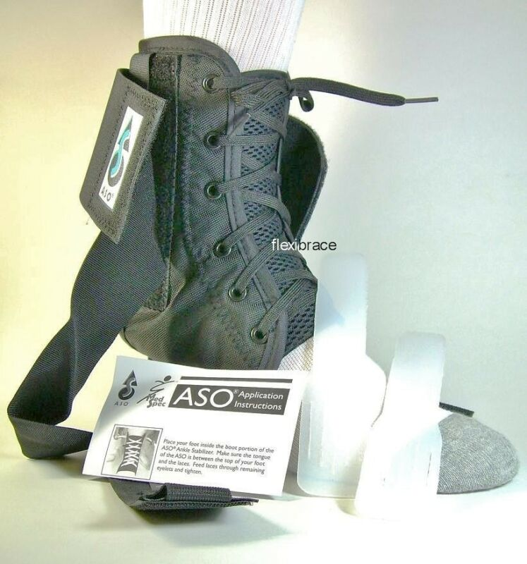 ASO Ankle Brace Support With Plastic Stays Brand New