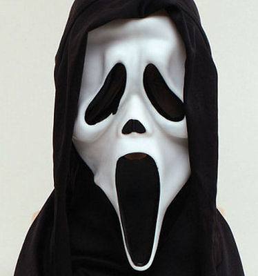 Scream Mask Halloween Horror Ghost Scary Mask Black Hood Fancy - Scary Halloween Screams
