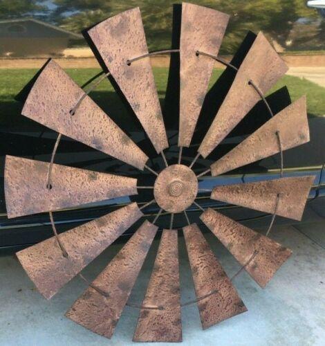 farm decor rustic style windmill fan blade  Windmill fan blade oil gas sign
