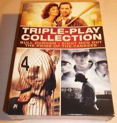 TRIPLE-PLAY COLLECTION BULL DURHAM-EIGHT MEN OUT-THE PRIDE OF THE YANKEES 3 DVDs ()
