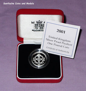 2001 ROYAL MINT SILVER PROOF PIEDFORT £1 COIN  - Irish Celtic Cross