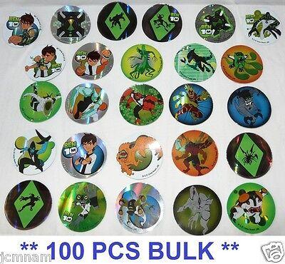 Ben 10 Sticker Stickers Party Favor 100 Pcs Bulk 1.75 Round