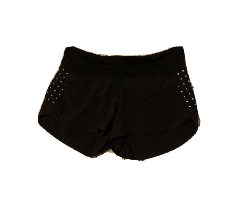 Lululemon Speed Shorts Size 2 Black Polka Dots