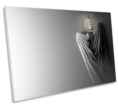 akroom CANVAS WALL ART DECO LARGE READY TO HANG all size (Angel Wings Halo)