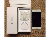 iPhone 6 unlocked as new in box white silver 16 gb