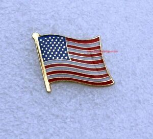 Stars and Stripes USA Flag Pin badge