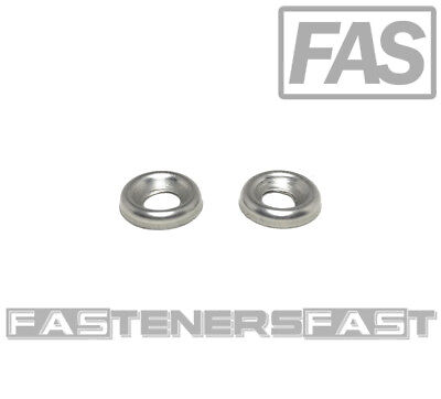 300 6 Stainless Steel Finishing Washers Cup Washers  300 Per Bag