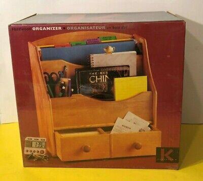 New - Vintage Kamenstein Solid Wood Desk Organizer 14 X 9 X 15 W Drawers