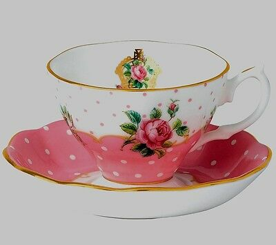 Royal Albert CHEEKY PINK Cup & Saucer Set ~ NEW IN BOX