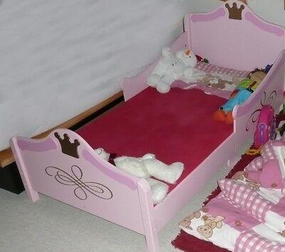 Kidkraft Kinderbett Prinzessin Mädchen rosa 140x70 cm Krone guter Zustand