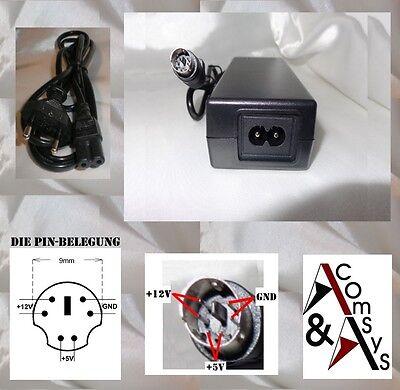 Netzteil 12V 5V für Externe Festplatte HDD Gehäuse Case 6 Pin 5V Unten #5U