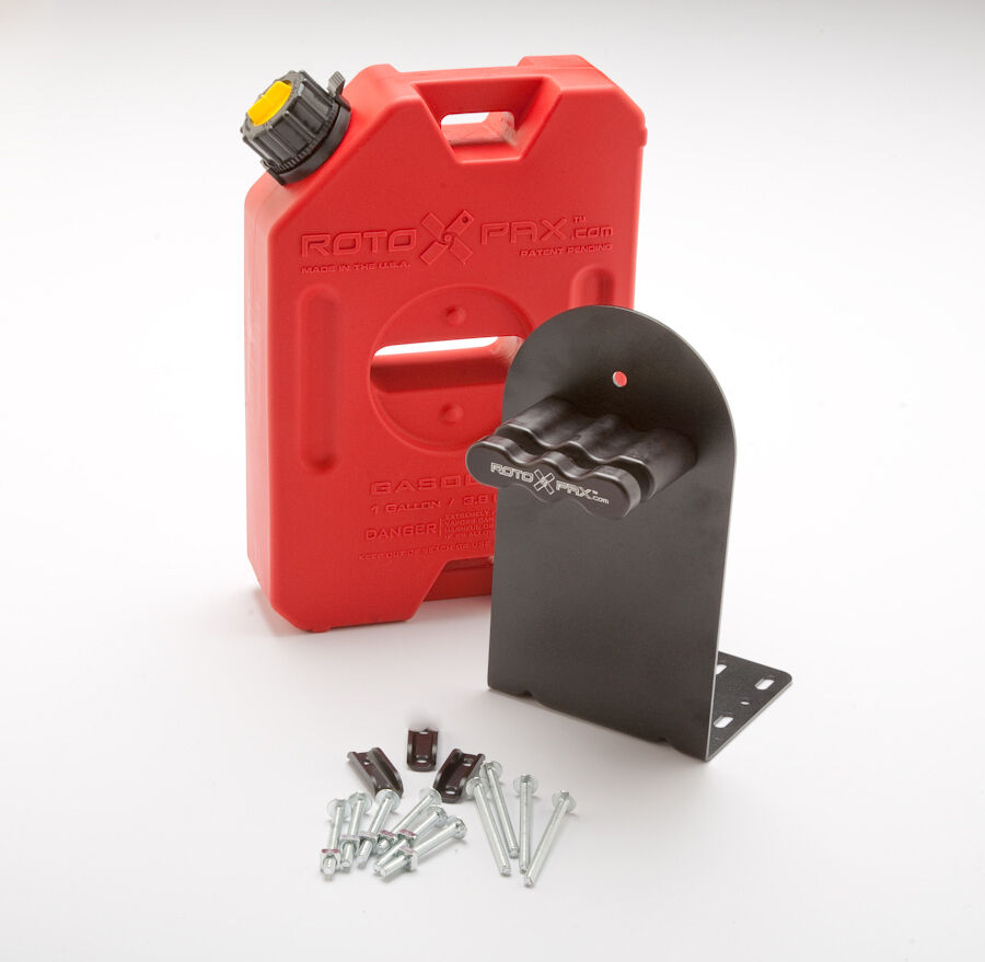1 Gallon Rotopax Fuel Pack WITH L Bracket and Mount.  RZR Gas Fuel Can Container