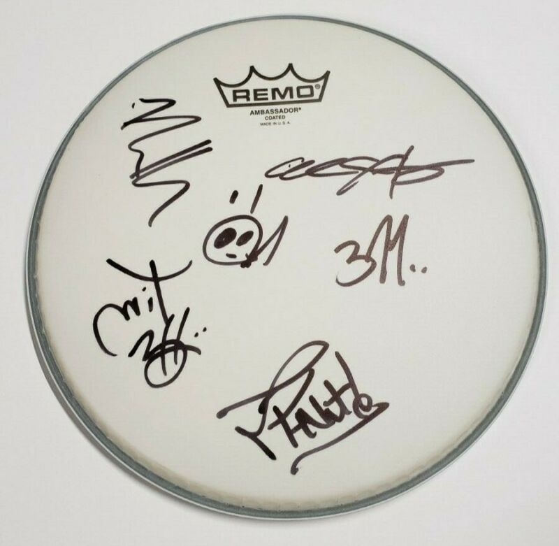 """311 ⭐FULL BAND AUTOGRAPHED ⭐ 10"""" REMO DRUMHEAD"""