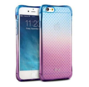 NEW! - iPhone 6/6S PLUS Silicone Purple and Blue Case