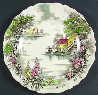 J G Meakin OLDE AVON DALE MULTICOLOR WITH YELLOW Dinner Plate 6163037 - $13.99