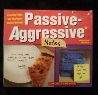Passive-Aggressive Notes 2018 Daily Desk Boxed Calendar Box Desk Calendar