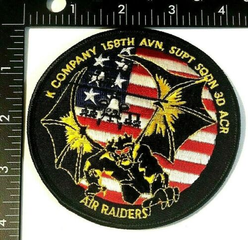 US ARMY K COMPANY, 158th AVIATION SUPT SQ 3d ACR PATCH (USA-7-PS) HELICOPTER