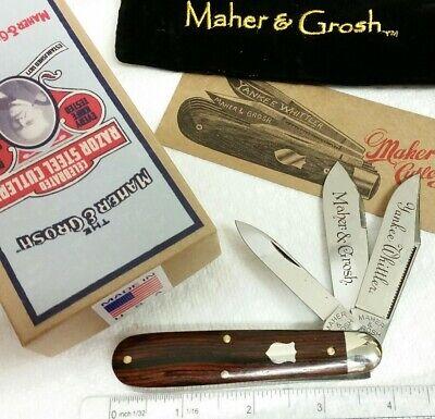 Maher & Grosh by G.E.C. #498 Yankee Whittler knife, Cocobolo wood handles